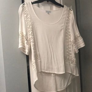Patrons of Peace White Short Sleeve Blouse